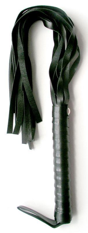 Черная плетка Notabu из искусственной кожи - 50 см. - фото 253959