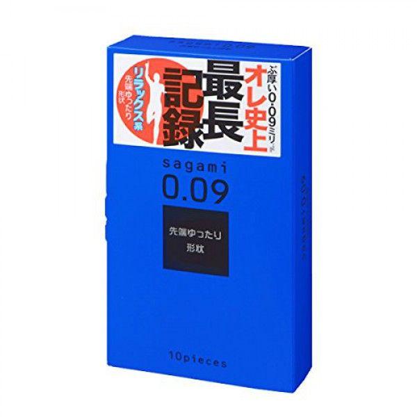 Утолщенные презервативы Sagami 0.09 Natural - 10 шт.