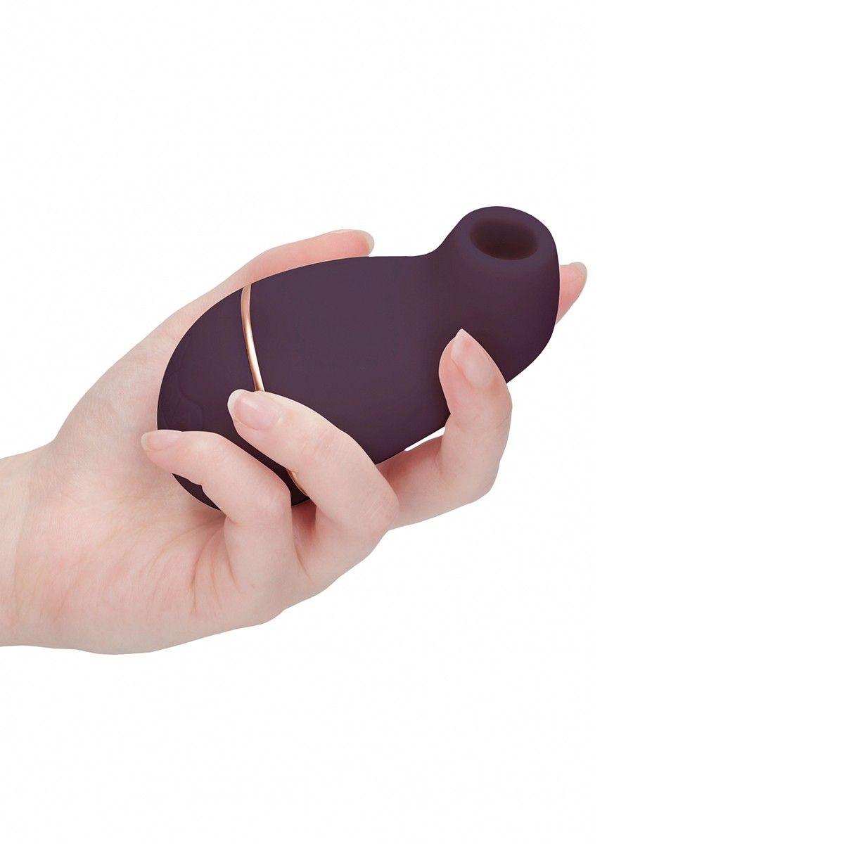Фиолетовый клиторальный вакуум-волновой массажер Irresistible Kissable - фото 179806