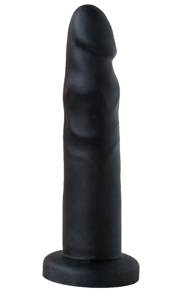 Черный анальный фаллоимитатор - 13 см.