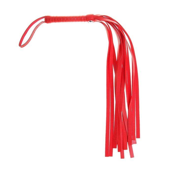 Красная плеть из искусственной кожи - 43 см.
