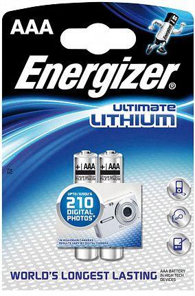Батарейки Energizer Ultimate Lithium FR03/L92 AAA - 2 шт. - фото 63340