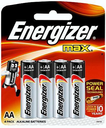 Батарейки Energizer MAX E91/AA 1,5V - 4 шт. - фото 492387
