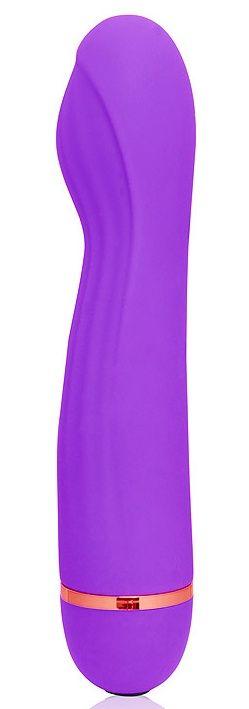 Фиолетовый вибромассажер с 20 режимами вибрации - 13,5 см.