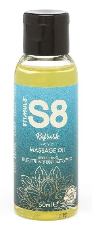 Массажное масло S8 Massage Oil Refresh с ароматом сливы и хлопка - 50 мл.