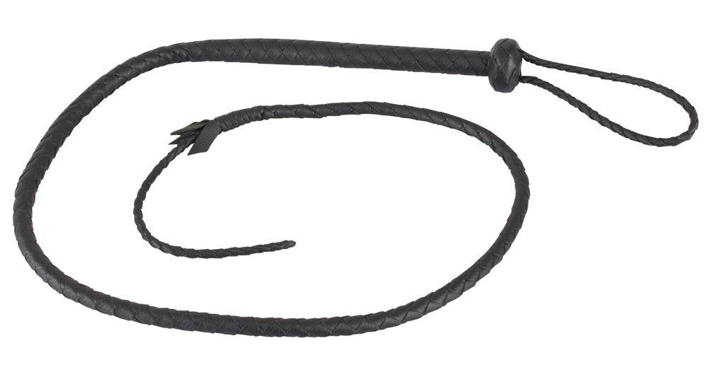 Черный кнут Le Single Tail с наконечником - 132 см.