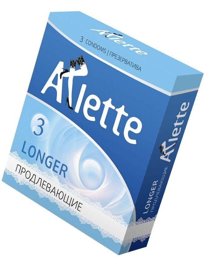 Презервативы Arlette Longer с продлевающим эффектом - 3 шт. - фото 196400