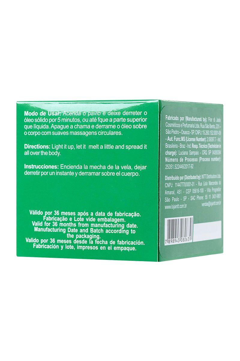 Массажная свеча для поцелуев Mint с ароматом мяты - 30 гр. - фото 261964