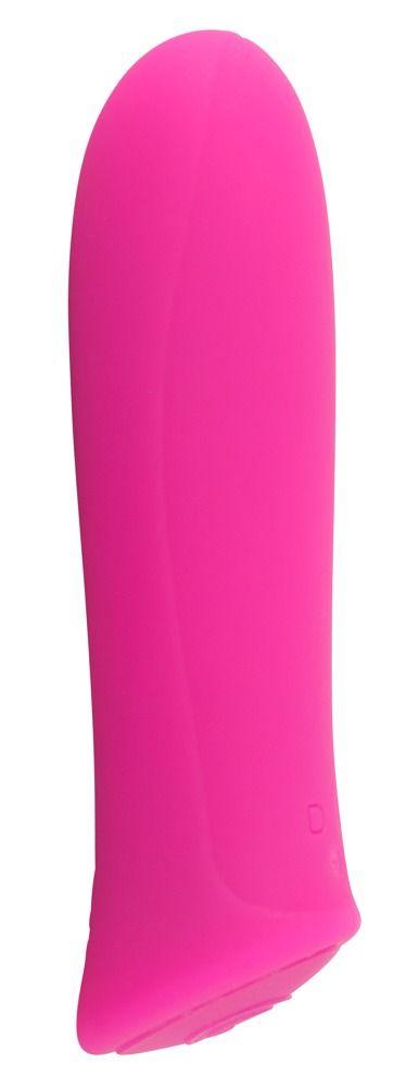 Розовый мини-вибромассажер Rechargeable Power - 8,5 см.