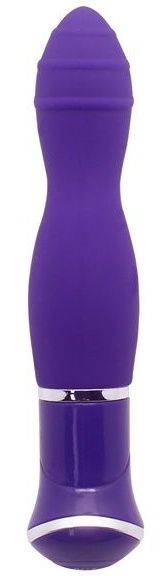 Фиолетовый вибратор ECSTASY Rippled Vibe - 19,5 см.