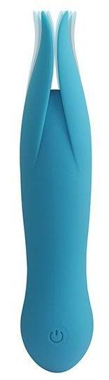 Голубой клиторальный вибростимулятор LITTLE SECRET - 16,5 см. - фото 373438