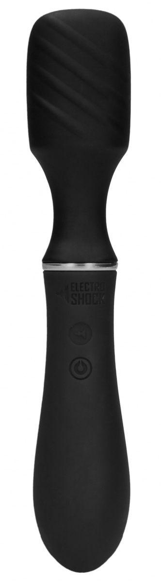 Черный универсальный вибратор с электростимуляцией Electro Vibrating Wand