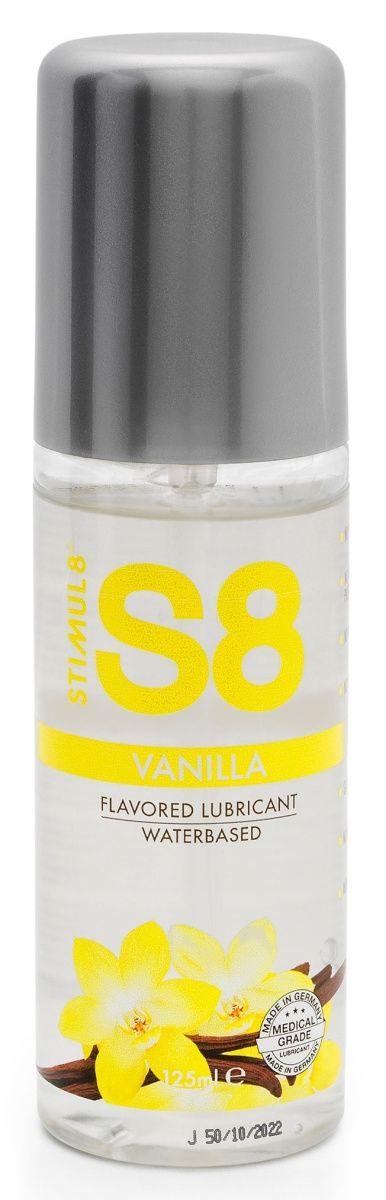 Лубрикант на водной основе Stimul8 Flavored Lube с ванильным ароматом - 125 мл.