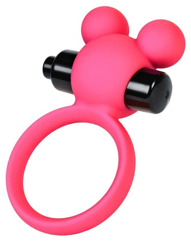 Розовое виброкольцо на пенис A-Toys - фото 1699359
