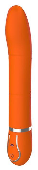 Оранжевый вибратор CRYSTAL CURIOSITY - 22 см.