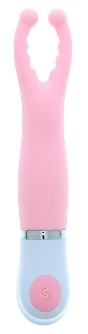 Розовый вибростимулятор клитора CLITORAL PINCER