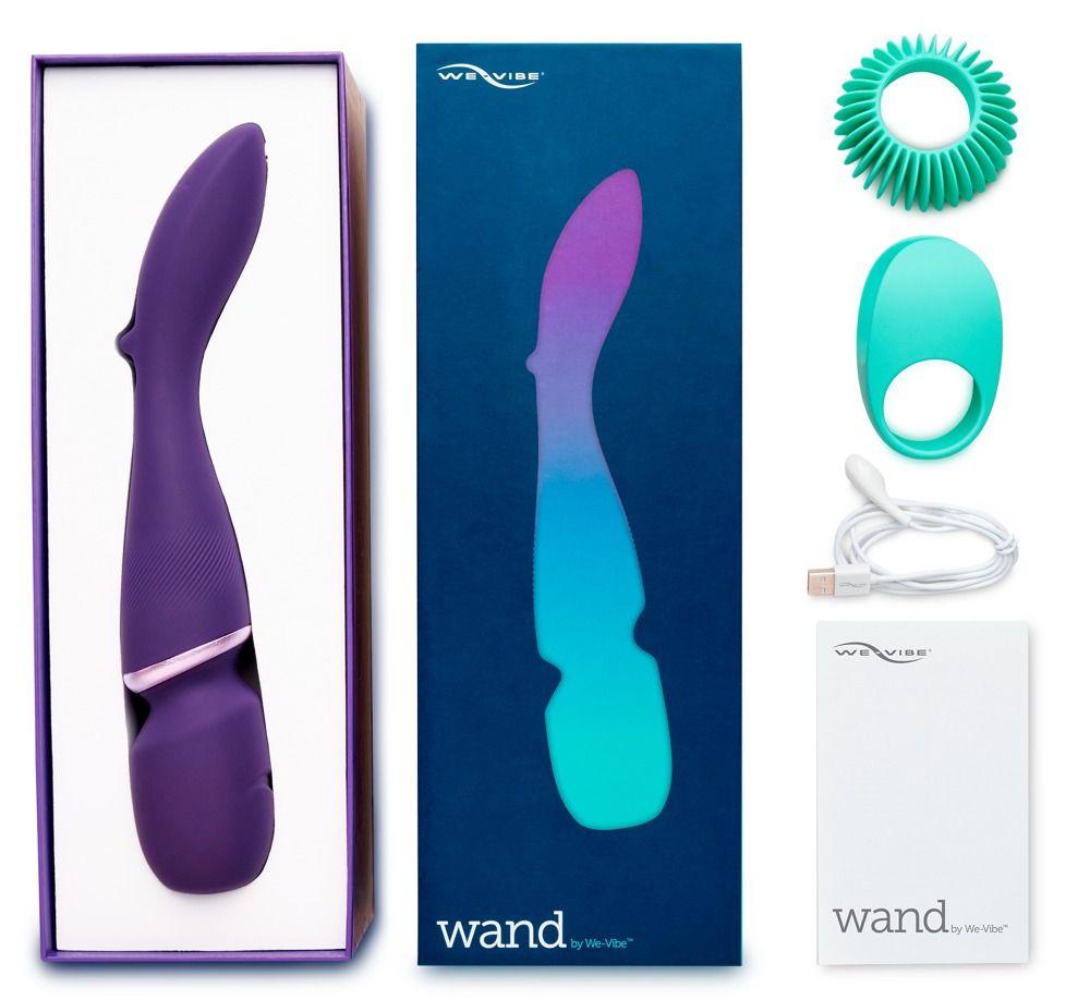 Фиолетовый вибратор-жезл We-Vibe Wand - фото 271825
