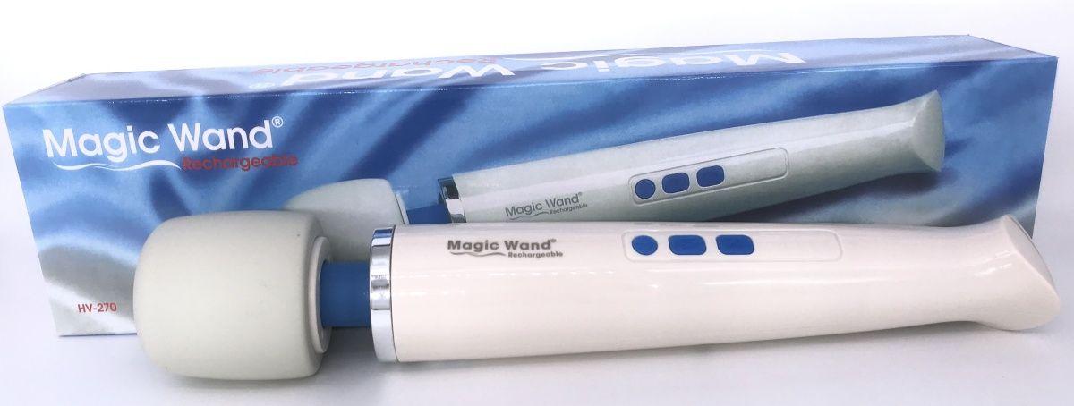 Беспроводной вибромассажер Magic Wand Rechargeable - фото 373539