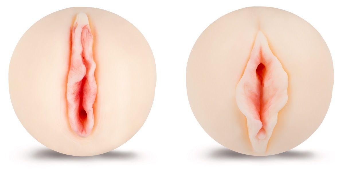 Двусторонний мастурбатор телесного цвета - фото 1282921