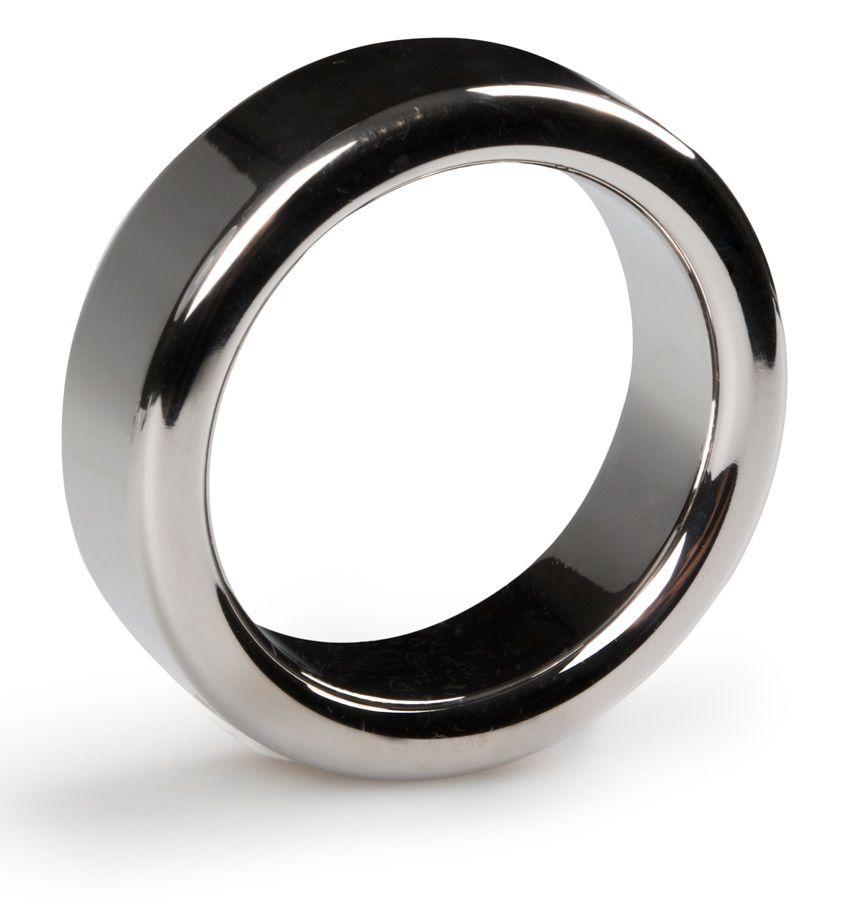 Серебристое эрекционное кольцо Heavy Cock Ring Size L - фото 368176