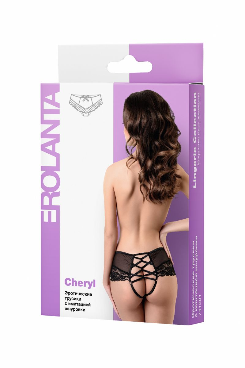 Эротические трусики с имитацией шнуровки Cheryl - фото 274935
