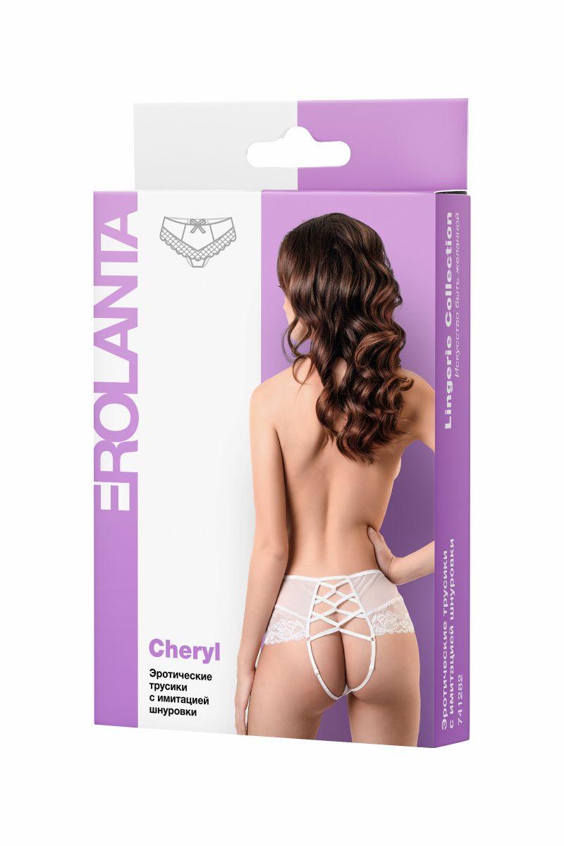 Эротические трусики с имитацией шнуровки Cheryl - фото 274940