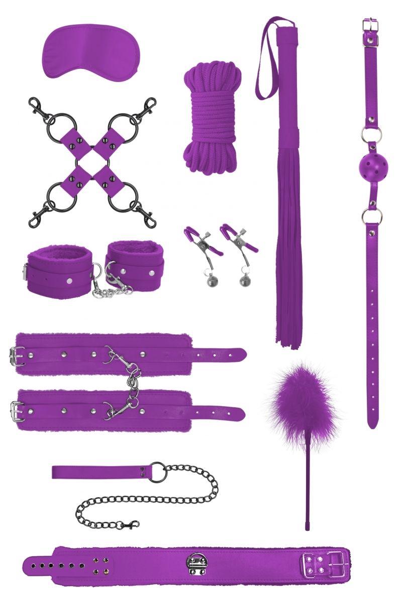 Фиолетовый игровой набор БДСМ Intermediate Bondage Kit - фото 629950