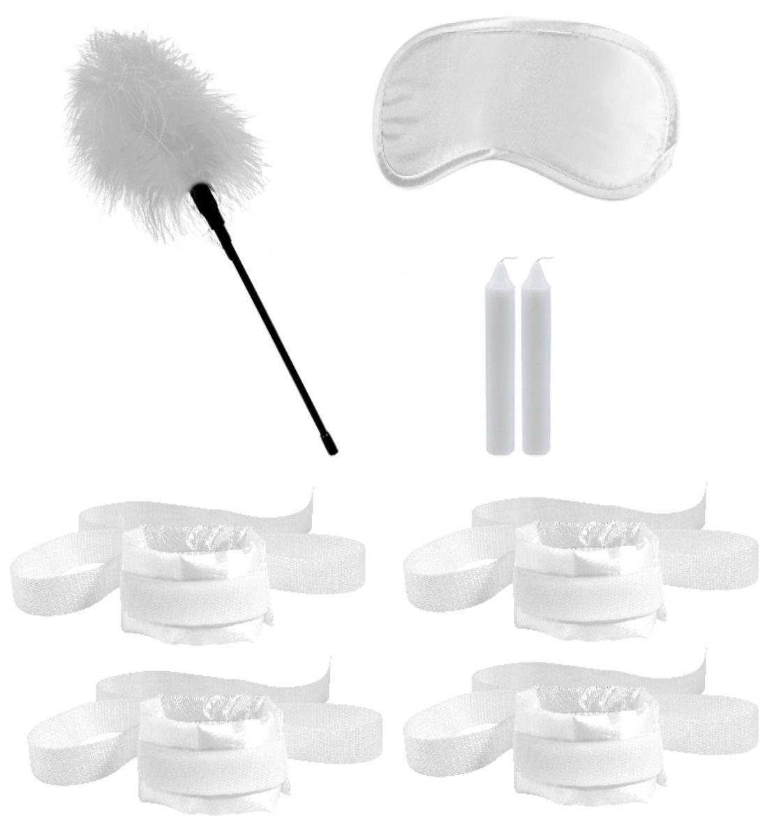 Белый игровой набор БДСМ Honeymoon Bondage Kit - фото 629956