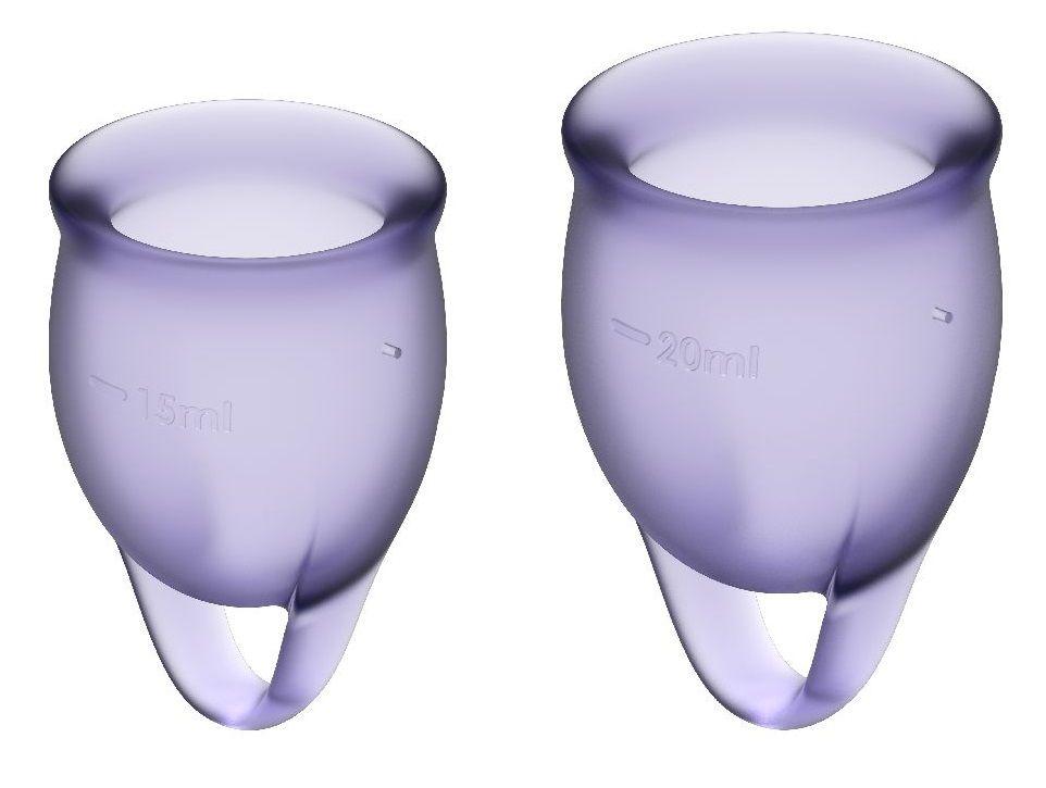 Набор фиолетовых менструальных чаш Feel confident Menstrual Cup - фото 82064