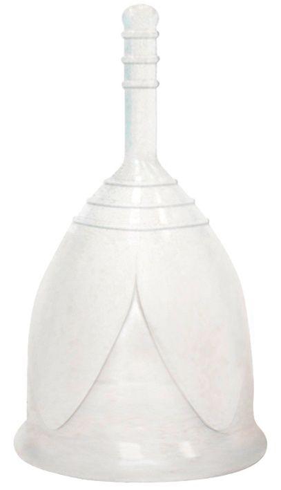 Белая менструальная чаша размера L - фото 263502