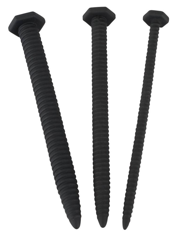 Набор из 3 винтовых уретральных плагов Screw Dilator - фото 259158