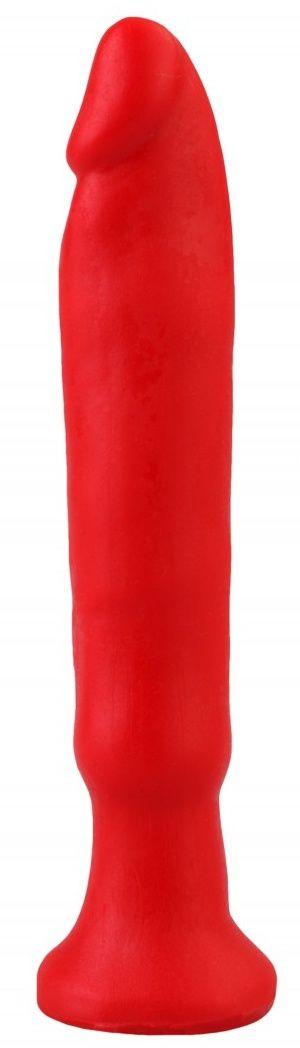 Красный анальный стимулятор без мошонки - 14 см. - фото 369128