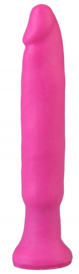 Ярко-розовый анальный стимулятор без мошонки - 14 см. - фото 373692