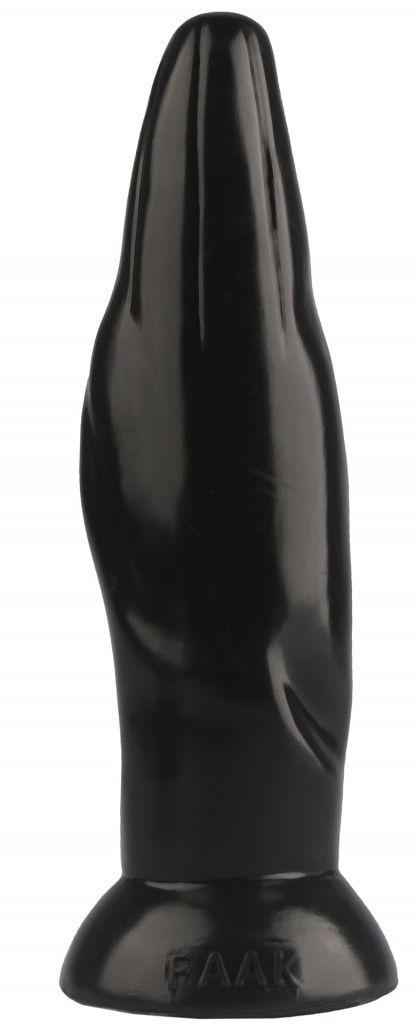 Черная фигурная анальная втулка - 22,5 см. - фото 374618