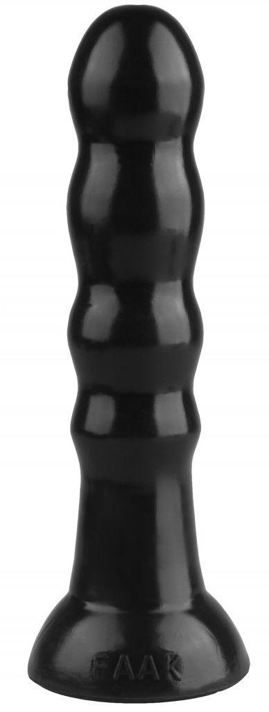 Черная анальная втулка с круглым кончиком - 23 см. - фото 77838