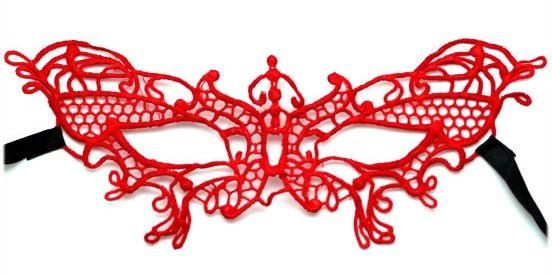Красная ажурная маска  Бабочка