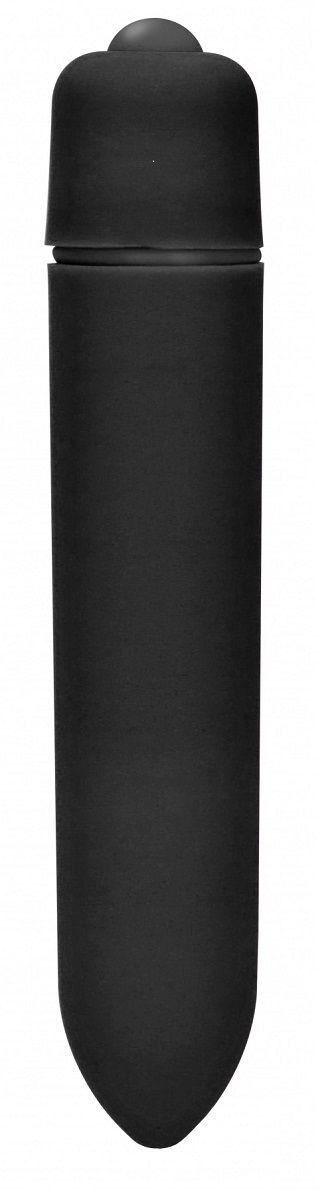 Черная вибропуля Speed Bullet - 9,3 см. - фото 376590