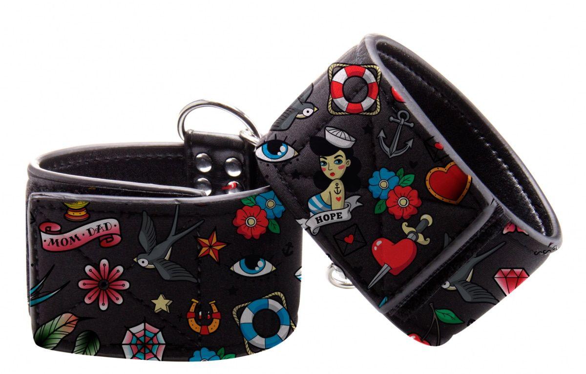 Наножники на цепочке Printed Ankle Cuffs Old School Tattoo Style - фото 86809