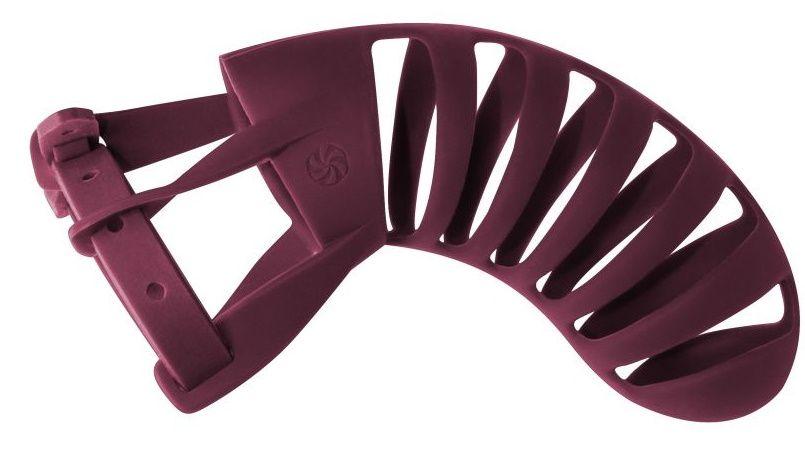 Мужской пояс верности бордового цвета Romello - фото 62944