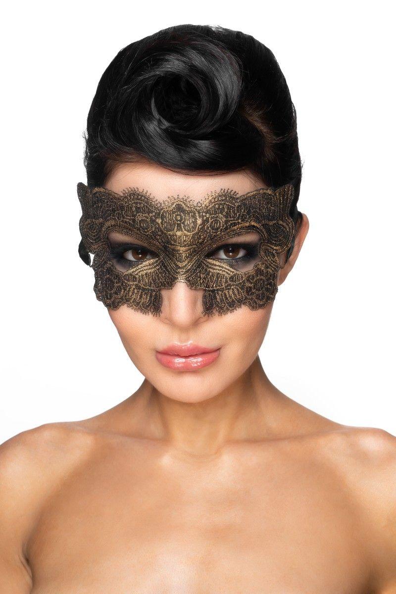 Золотистая карнавальная маска  Гомейса  - фото 92908
