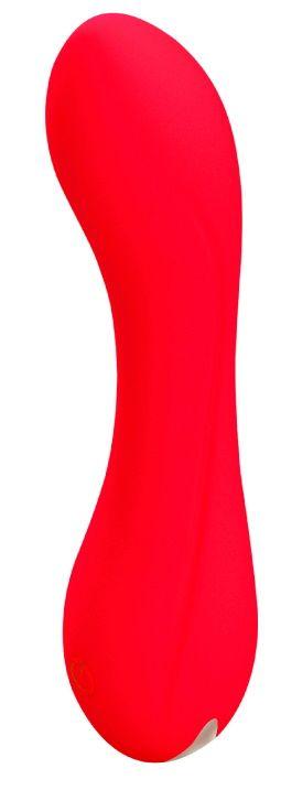 Красный мини-вибратор Skadi - 11,7 см. - фото 315147