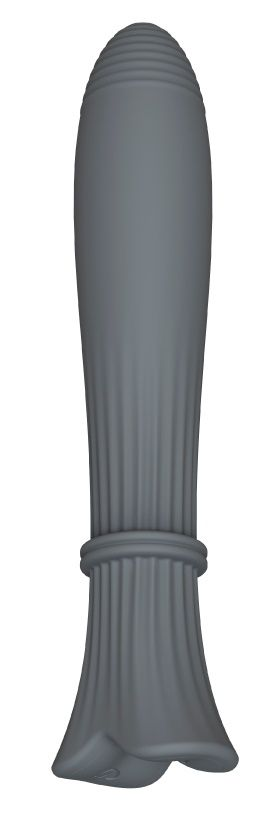 Темно-серый пульсатор Gita - 20 см. - фото 711425