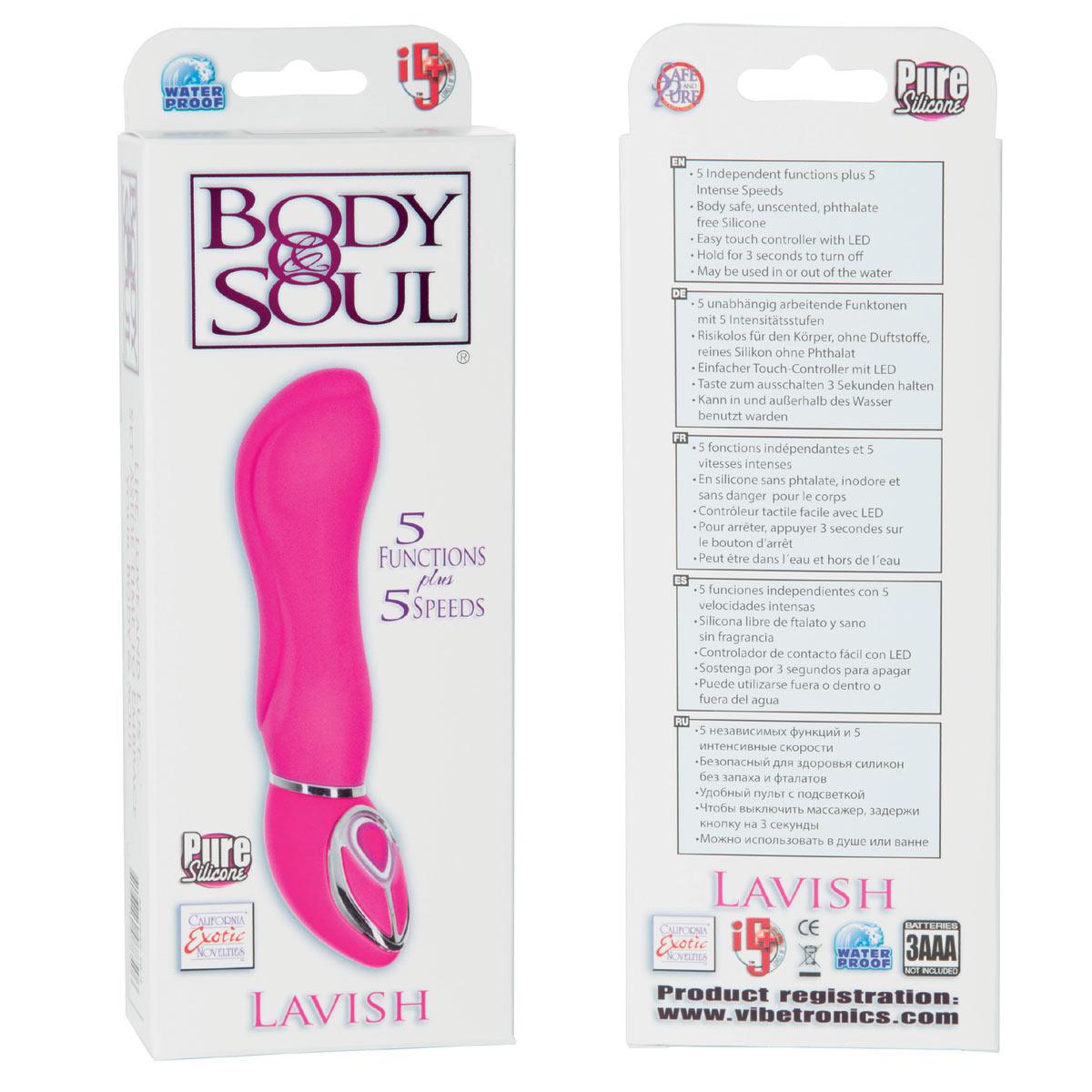 Розовый вибратор Body   Soul Lavish - 16,5 см. - фото 315080