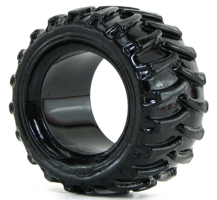 Чёрная эрекционная шина Treads Mens Ring Wide - фото 527863