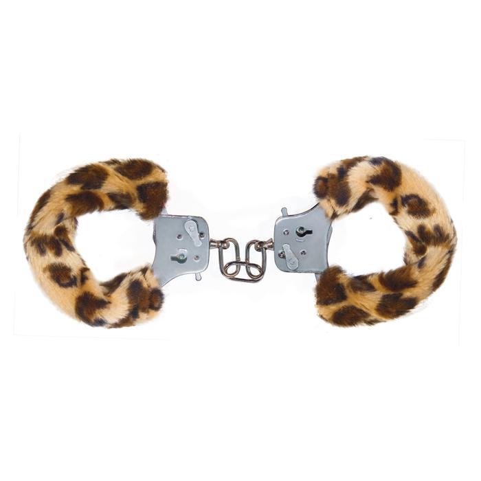 Наручники с леопардовым мехом Furry Fun Cuffs Leopard - фото 10744