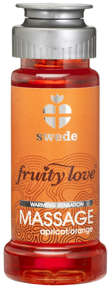 Лосьон для массажа Swede Fruity Love Massage Apricot/Orange с ароматом абрикоса и апельсина - 50 мл.