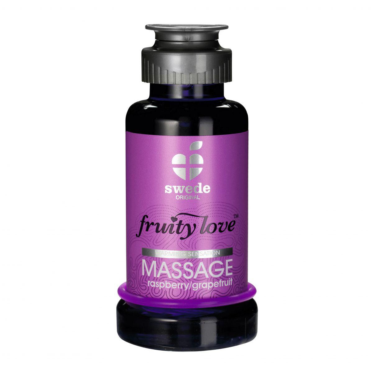 Лосьон для массажа Swede Fruity Love Massage Raspberry/Grapefruit с ароматом малины и грейпфрута - 100 мл.