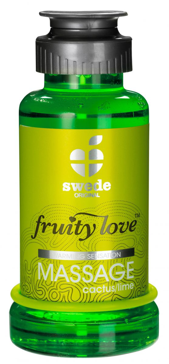 Лосьон для массажа Swede Fruity Love Massage Cactus/Lime с ароматом кактуса и лайма - 100 мл.