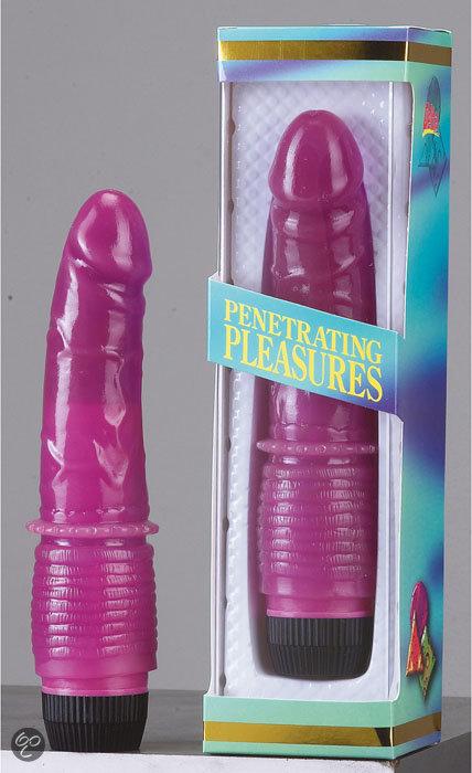 Фиолетовый вибратор Jelly Purple - 19 см. - фото 315817