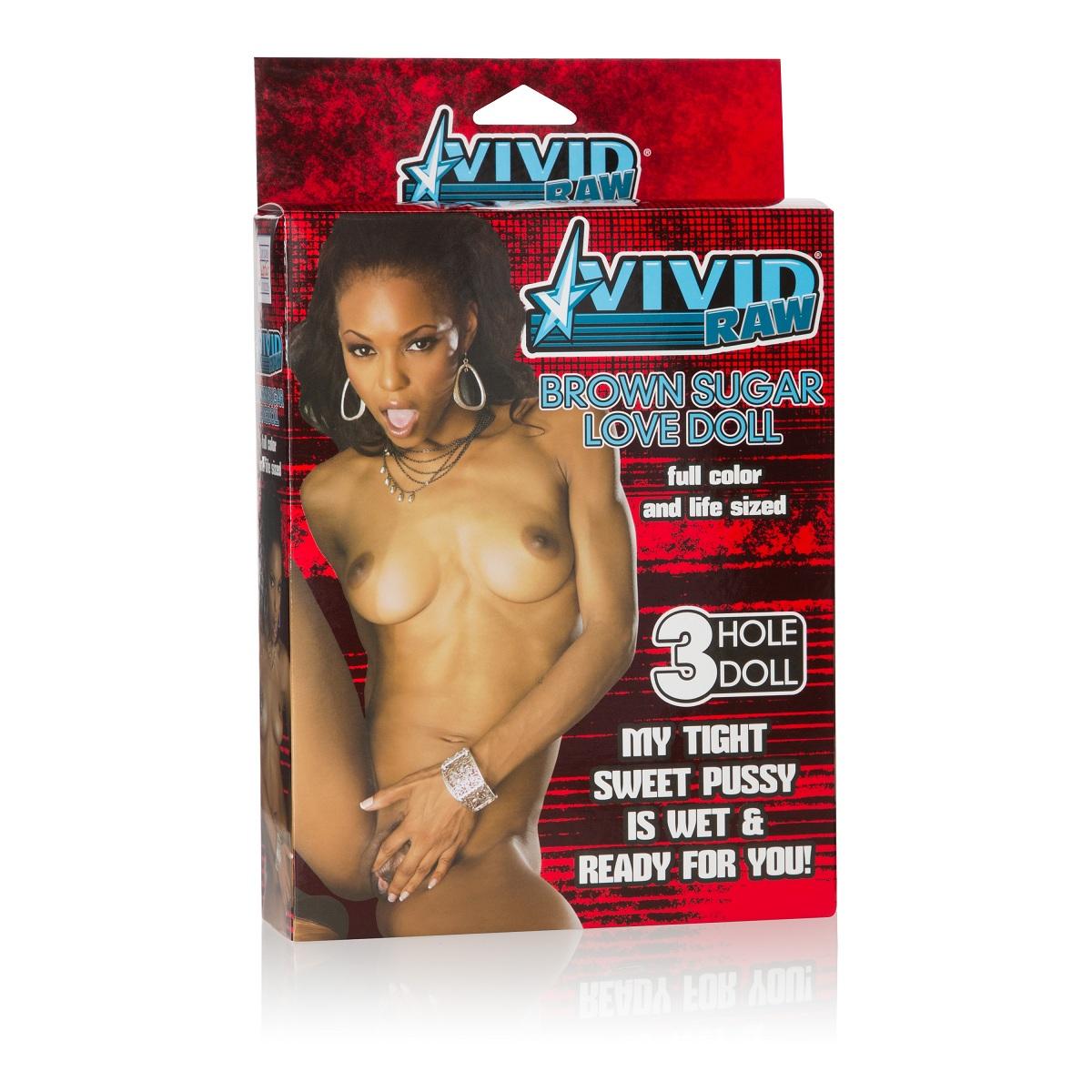Надувная секс-кукла Vivid Raw Brown Sugar Love Doll  - фото 135485
